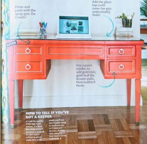 A great diy for a desk. I love the paint pen idea…DUH!