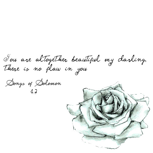 Song of Songs 4:7 - You are beautiful in every way, my friend, there is no flaw in you! NAB