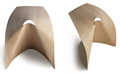 { Shin Azumi }, AP Stool. Bent Plywood.