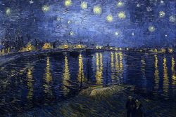 vincentvangogh-:  Starry Night Over the Rhone (1888) - Vincent van Gogh.