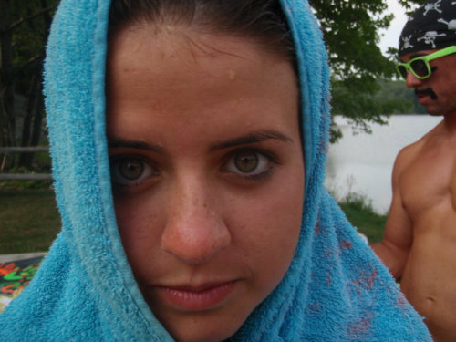 Congratulations! You have made it onto hottie of the day!Nice towel on your head. Nice face on your head. This is an overall nice picture, so nice, in fact, you've made it onto HotDaDay. Nice Job.
