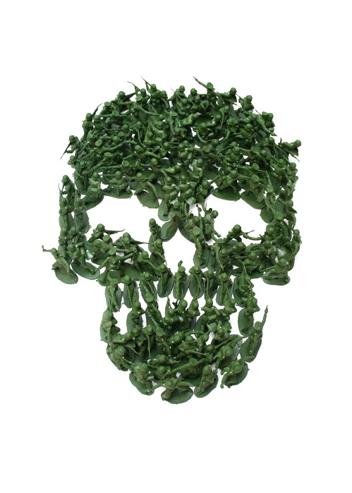 nevver:  Army Men Skull, Noah Scalin