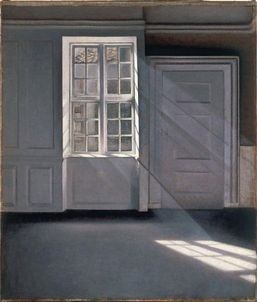 Vilhelm Hammershøi, Sunbeams or Sunshine. Dust Motes Dancing in the Sunbeams, 1900. Another one from Weimar