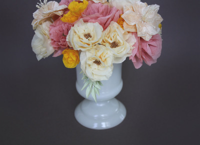 DIY - Crepe Paper Flowers - The Bride's Cafe