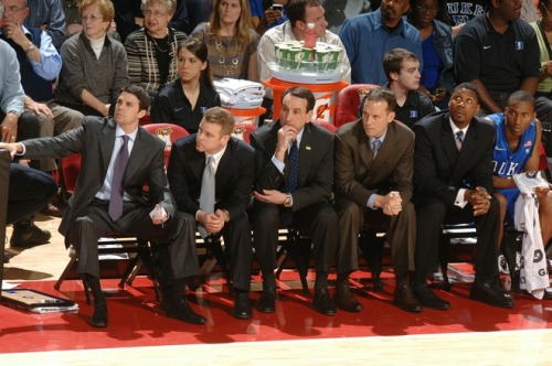 The coaches. vs. Maryland Photo by Mitchell LaytonGetty Images