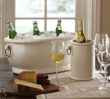 lovelyjenny:  Rhodes Party Bucket & Wine Cooler | Pottery Barn