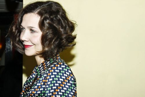 bohemea:  Maggie Gyllenhaal - Three Sisters off-broadway opening night party, February 3rd 2011 My hair looks a lot like this. There's a fun fact about me.
