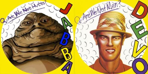 Got a gut feeling… no wait, that's just gas *huttfarts* Jabba. Q : Are We not Hutts? Sounds of the galaxy by Marcus Bass