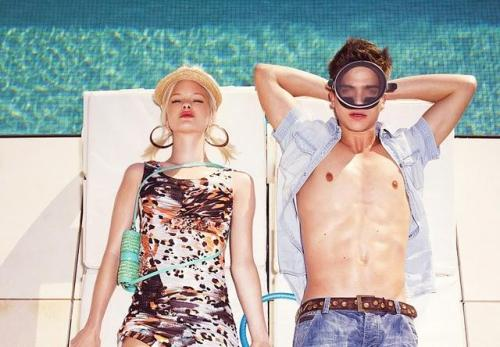 thehamptons:  River Viiperi and Hannah Holman for Bershka SS11