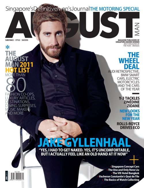 Jake Gyllenhaal (August Man magazine, january 2011)