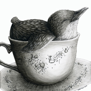 this drawing is so cute. I wouldn't mind a little cup of penguin >.< hihih <3