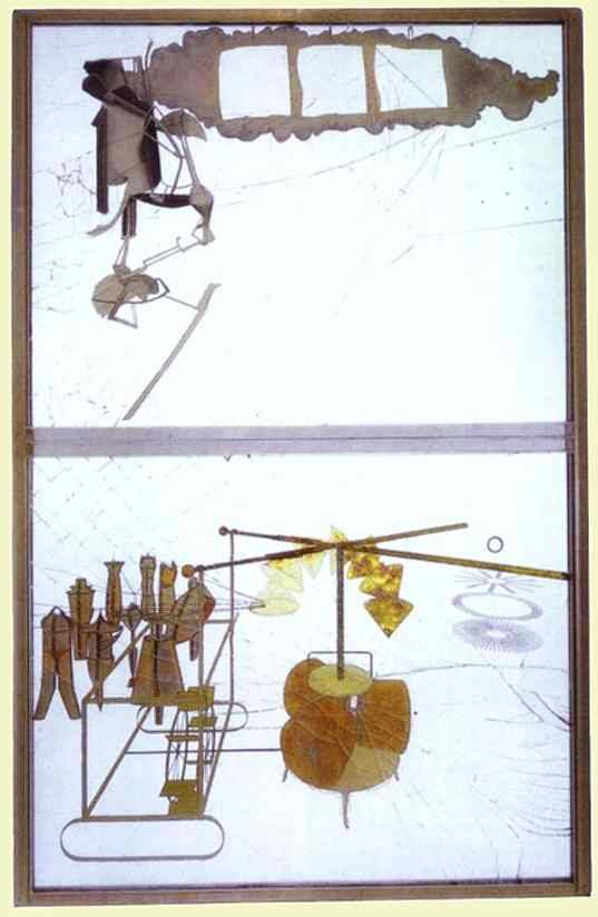 The Bride Stripped Bare By Her Bachelors, Even or The Large Glass, 1916Marcel Duchamp.