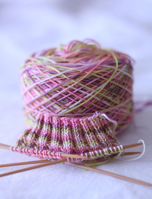 lambtastic:  What lovely spring colors! traveling socks (by have you any wool?)