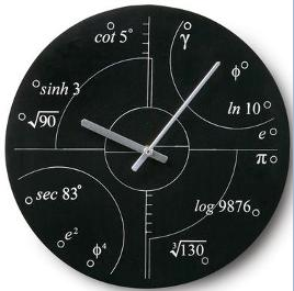 Irrational numbers clock