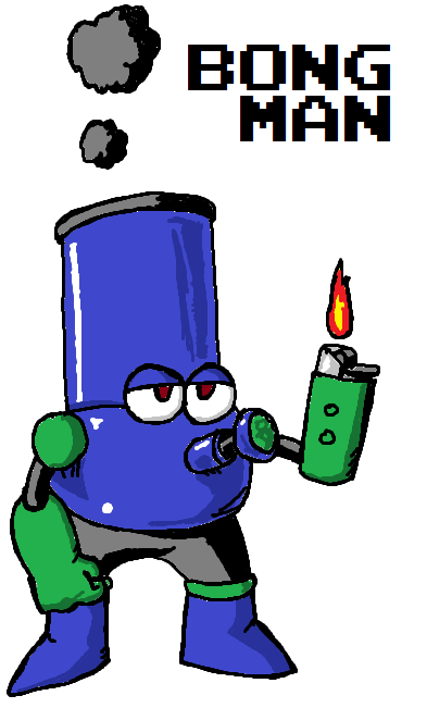 fyeahmegaman:  thatsgoodweed:  bong man via mega man ivxx  For all the Tumblr potheads.