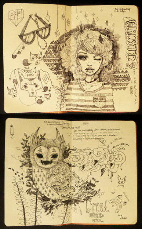 Just broke in my new moleskine the other day! Move over Hipsters! It is now the era of the Glamsters.