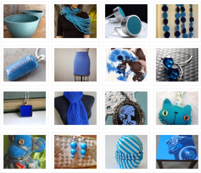 Feeling Blue Treasury by Oddoneout of Etsy on Tumblr Team