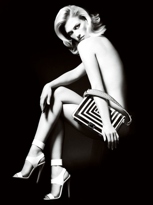 January Jones Sporting Versace Accessories by Mario Testino