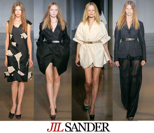 FashBack: Jil Sander Spring 2010 Jil Sander is a modern minimalist. She designs clothes  that are modern and chic without trying to keep up with the trends.The  best part is that all pieces from the collection are very wearable. She stayed true to herself by making plenty of neutral-toned businesswomen ensembles. The designer has collaborated with Japanase casual clothing brand Uniqlo and has won the Brit Insurance Design Award. (c) Fashion Firewoman