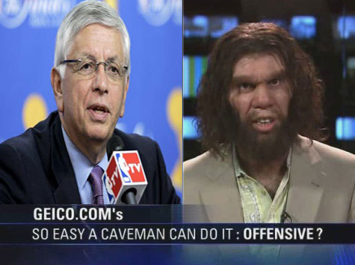 BREAKING: Commissioner David Stern names Geico caveman as replacement player for Yao Ming in All-Star game. [slapclap]