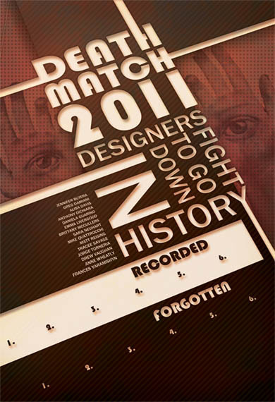Herbert Bayer inspired poster for Deathmatch