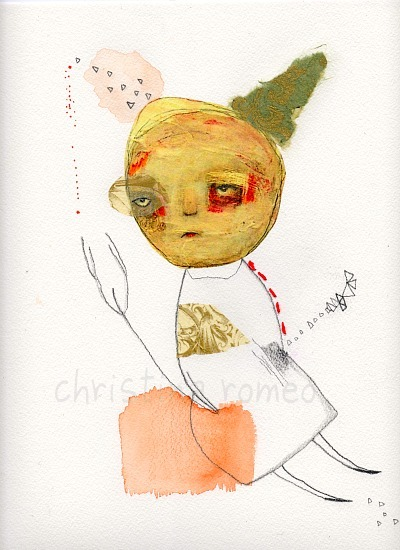 Three WishesOriginal Mixed Media Watercolor by ChristinaRomeo