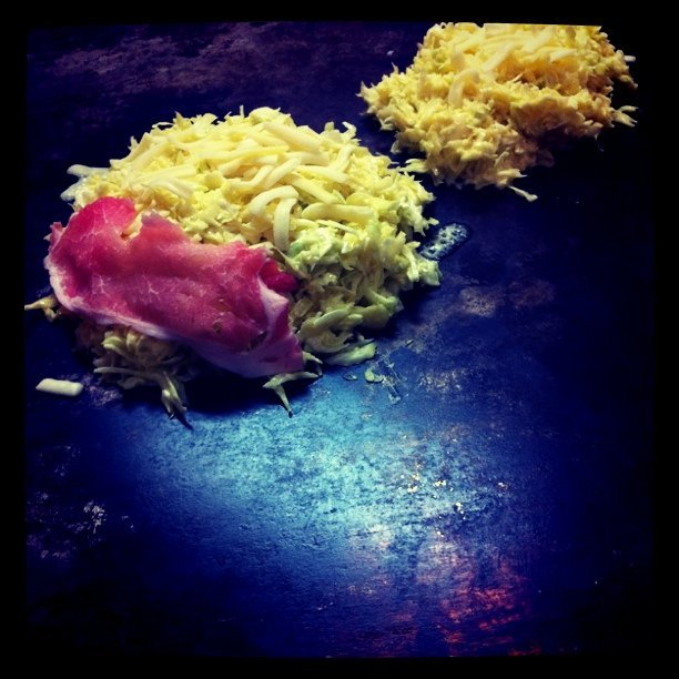 The beginnings of okonomiyaki.