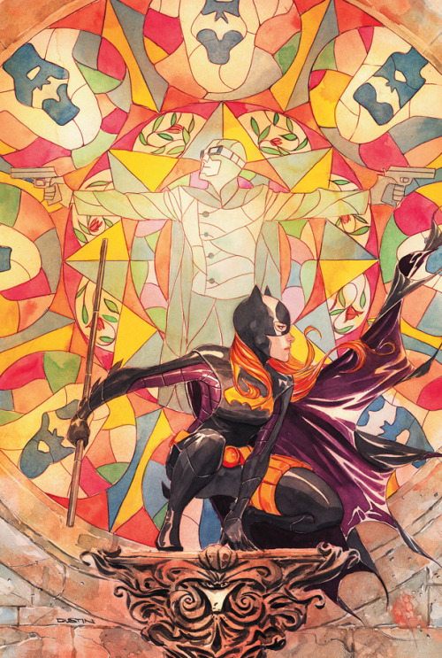 The cover for Batgirl 21! Art by Dustin Nguyen! Can we start having Stephanie Brown posters, DC? Please?