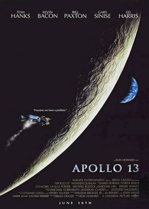 1995 - Apollo 13 de Ron Howard Acteur :Tom Hanks, Bill Paxton, Gary Sinise