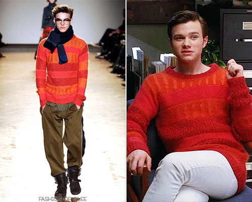 fashionofglee:  Marc by Marc Jacobs Fall 2009 Menswear Stripe Sweater