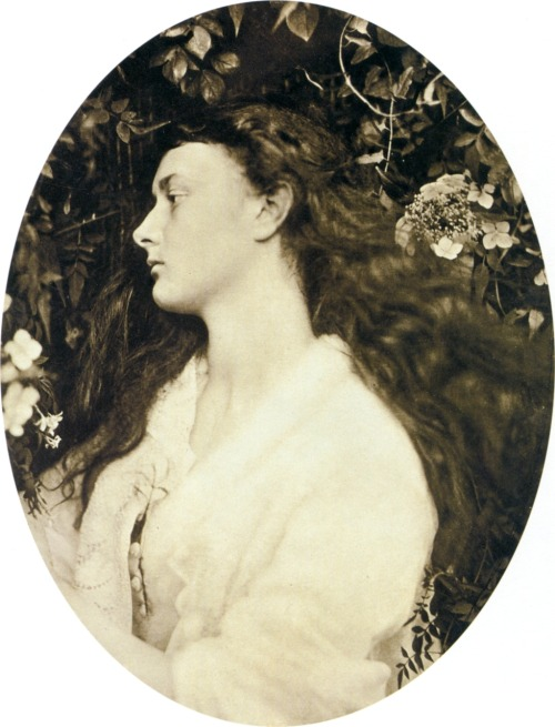 theredshoes:  Julia Margaret Cameron, Alice Liddell as Alethea, ca. 1872 (click for large) via