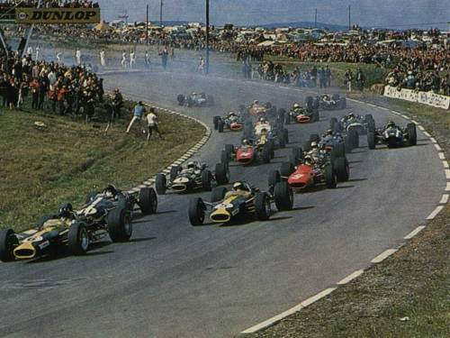 Too many legends/Watkins Glen/1967  via asaucerfulofwheels