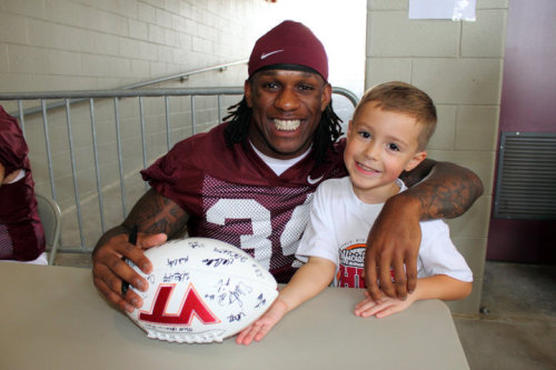 Good luck in the NFL, Mr. Williams! And thanks for making my son's day last fall!