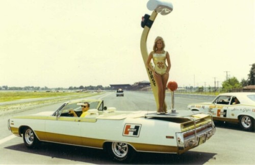 The Chrysler 300 Hurst Convertible with Hurst Spokes Model Linda Vaughn.  I have been lucky enough to have dinner with Linda and she is a wonderful lady. (My father and Uncle will be angry if I don't mention they are lucky enough to have become friends with Linda and get to enjoy her company every summer. As a side note, she travels a lot with Grumpy Bill Jenkins and I can report that he is even grumpier than his nickname would lead you to believe.