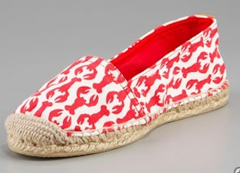 prepfection:  life-love-laughter:  Tory Burch Lobster-Print Espadrille {via Neiman Marcus}  I want espadrilles! I want summer!