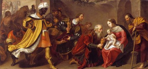 Wouter Pietersz. Crabeth (II) - The adoration of the three kings