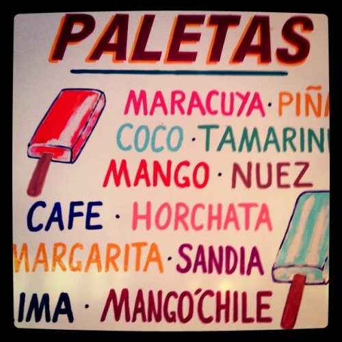 katespadeny:  tough choices (Taken with Instagram at La Esquina)