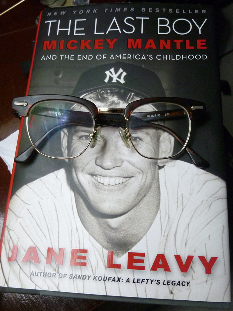 Mickey Mantle wearing my glasses.
