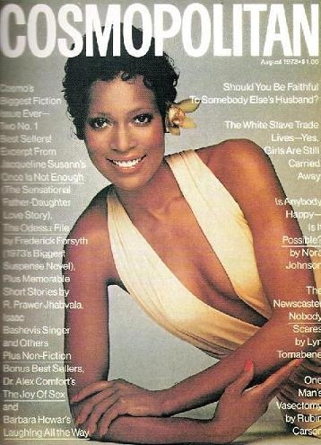 Naomi Sims on the August 1973 cover of Cosmopolitan.