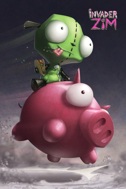 GIR, you're my favorite cartoon character, tacos tonight? ART BY: Clayton Crain DeviantArt || Website