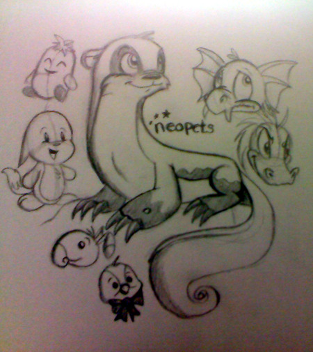 iiiiiiiiiiiiiit's Fanart Friday! I bring you my childhood  obsession, Neopets. Yes, I feel like I'm 10 again. It's great. Lutaris are clearly the best pets out there because they look like otters, clearly the best animals on Earth.