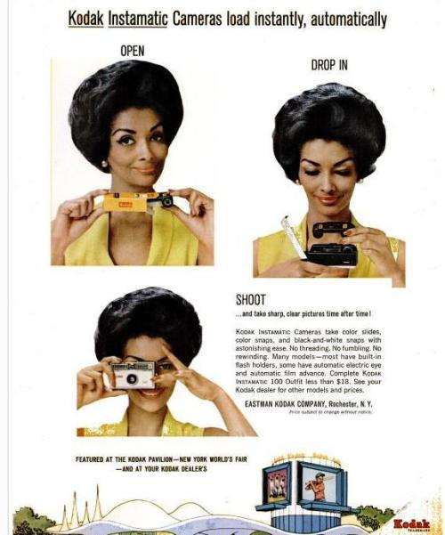 Helen Williams in a 1960s Kodak ad.