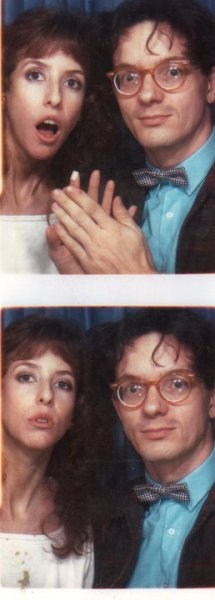 "giddygirlie:  I'm officially adding ""photobooth with Mark Mothersbaugh"" to my list of life goals."