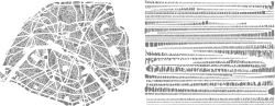 cafcaf:  French artist Armelle Caron takes maps of cities and reorganizes the individual blocks into ordered rows. The process transforms a chaotic city into a unrecognizable, but systematic assemblage of shapes (via Reorganized Cities | CMYBacon)  I love this!Me & my love for maps…  (For some reason my itouch cut off the rest of my post)
