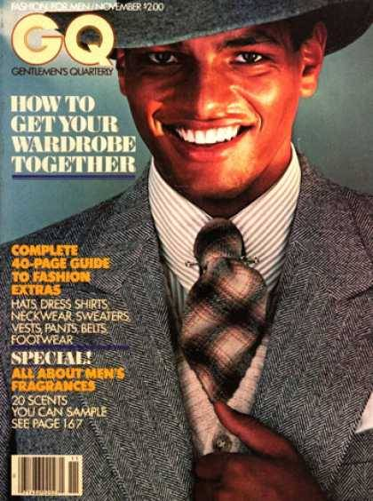 VBG Men: Urs Althaus on the cover of GQ, November 1977. The Swiss-Nigerian was the first Black model to appear on the cover of American GQ.