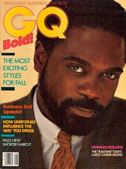 Actor Howard Rollins on the August 1982 cover of GQ at the height of his Ragtime fame.