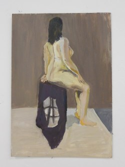 Seated Figure, Acrylic on panel