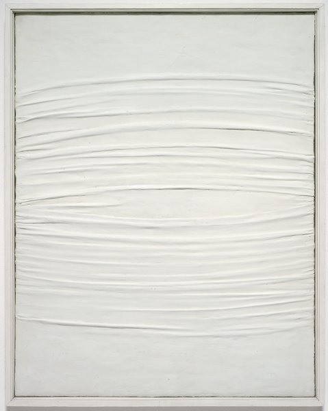 yama-bato:  Piero Manzoni Achrome  circa 1958 kaolin on canvas  Walker Art Center