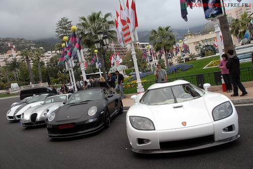 carpr0n:  What will you do? Starring: Koenigsegg CCX, Gemballa Mirage GT, Wiesmann MF5 and Ferrari 599 Hamann (by Julien Rubicondo)