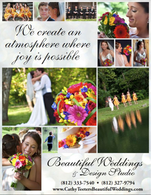 Here is the ad I created for a local wedding coordinator & florist that you can see in the most recent issue of Bloom Magazine. The photos are of one of her weddings and were taken by Lisa Walker.